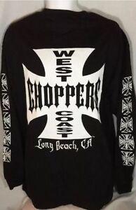 Jesse Who? West Coast Choppers Iron Cross Cotton Lg Sleeves Black Men's T-Shirt