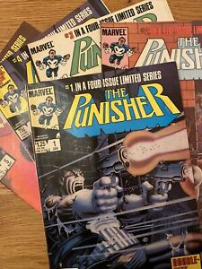 The Punisher # 1-5 , Five Part Limited Series  1986 Marvel Comics