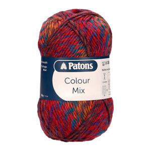 Patons Colour Mix-  VARIOUS SHADES - 50g balls DK Knitting Yarn