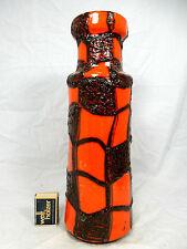 """70´s design Scheurich Keramik Vase """" Spiderweb """" Fat Lava glaze variation 205-32"""