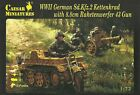 Caesar Miniatures 1/72 Sd Kfz 2 KETTENKRAD y 8.8cm Raketenwerfer 43cm puppchen'