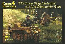 "Caesar Miniatures 1/72 Sd Kfz 2 Kettenkrad and 8.8cm Raketenwerfer 43 ""Puppchen"""