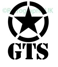 GTS Vespa Sticker -Vinyl Sticker Decal - Mod 90mm wide
