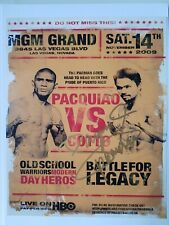 Manny Pacquiao Autograph Photo Poster  Pacquiao vs Cotto hand signed authentic