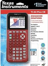 Texas Instruments Ti-84 Plus Ce Color Graphing Calculator - Red,Blue,White,Black