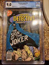 Detective Comics #476, CGC Graded 9.0, 1978 Joker cover; Joker story