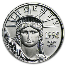 1998 1/10 oz Platinum American Eagle Coin - Brilliant Uncirculated - SKU #7454