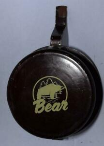 "Vintage Bear Bowfishing Reel for Recurve Bow - Burgundy Red - 5"" Diameter"