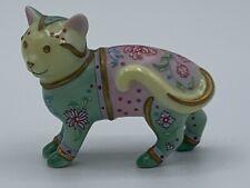 Franklin Mint Curio Cabinet Cats FAMILLE ROSE Cat Figurine