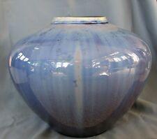 Monumental Blue Crystalline Porcelain Vase