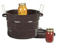 COLUMBIAN HOME 21-1/2 Qt Covered Canner w/ Rack Canning Ceramic Steel Water Bath