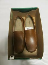 BRAND NEW  IN BOX Thom McAn  MEN'S  LUCCA 20220 TAN SLIP ON SHOES SIZE :9 MEDIUM