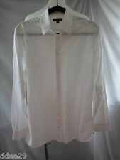SABA Mens White Business Long Sleeve Shirt Size S