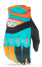 Fly 2017 F-16 Youth Gloves (ORANGE/TEAL) 3XS, 2XS, XS, S, M, L