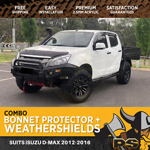 Bonnet Protector, Weathershields for Isuzu D-max Dmax 2012-2016 Visors