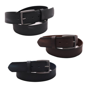 """Fashion Mens Real Leather Belts For Jeans 1.5"""" Buckle Belt 100% Genuine Leather"""