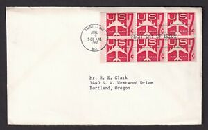 US 1960 FDC 7C AIRMAIL Pain of 6 Saint Louis Cachet FIRST DAY COVER
