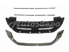 FOR 2013-2014 ACCORD 4CYL SEDAN GRILLE MOULDING UPPER LOWER CHROME TRIM 6PCS