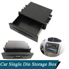 Car Dash Accessories Radio Single Din Pocket Sundries Storage Box Black Plastic