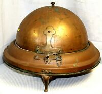 Large Copper Covered Server with Sterno Cup Holders, c. 1930-1950