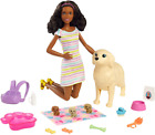 """Barbie Doll and Newborn Pups Playset 11.5"""" Brunette Mommy Dog 3 Puppies Sep.28"""