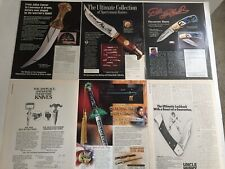 Lot of 6 Different Knives Swords Blades Magazine Print Ads Clippings