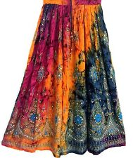 Ladies Indian Party Boho Gypsy Hippie Long Sequin Skirt Rayon Belly Dance r8
