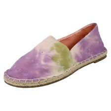 Ladies Spot On Flat Espadrille Shoe 'Stitched'