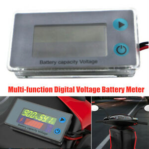 10-105V Adjustable Motorcycle Multi-function Digital Voltage Battery Meter Gauge