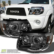 Smoked 2005-2011 Tacoma Halo Projector DRL LED Headlights Left+Right 05-11 sets