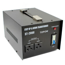 2000 Watts 110 to 220 Electrical Power Voltage Converter Transformer Heavy