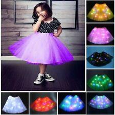 LIGHT UP LED TUTU Kids Stage Dance Skirt Dancewear Halloween **UK FAST POST**