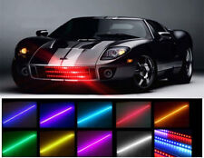 7 Colores 48 Led Rgb Impermeable Knight Rider Con Luz Led Scanner-Estroboscópica Flash Kit