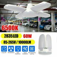 Deformable E27 LED Garage Lights Bulb Foldable Ceiling Fixture Work Shop Light