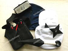 10pcs/set Anime NARUTO Weapon&Bag&Face Mask&Headband COSPLAY for Hatake Kakashi