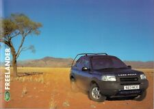 Land Rover Freelander 2000-01 UK Market Sales Brochure 1.8 2.5 Td4 S GS ES