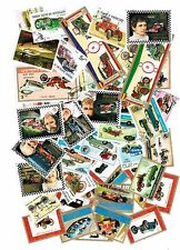 LOT DE 50 TIMBRES DIFFERENTS THEMES VOITURE