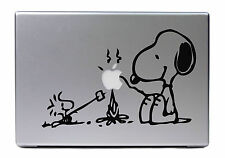 "Apple MacBook Air Pro 15"" SNOOPY WOODSTOCK Lagerfeuer Sticker Skin Decal 472"