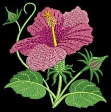Realistic Flowers Machine EMbroidery Design CD 5x5 for Brother, Janome etc