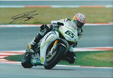 Jonathan REA SIGNED Superbike HONDA Autograph 12x8 Photo AFTAL COA DONNINGTON