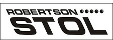 A043 Robertson Stol Airplane banner hangar garage decor Aircraft signs