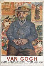 Van Gogh affiche litho Mourlot Musée Jacquemart-André 1960 Pays-Bas symbolisme