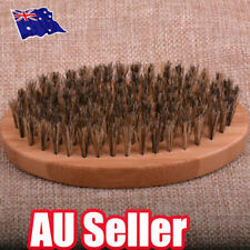 Natural Boar Bristle Brush Moustache Round Wood Handle Mens Beard Brush Combs BO