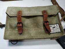 Vintage HUNTING WORLD Tan Canvas Leather Authentic Messenger Carrier Bag