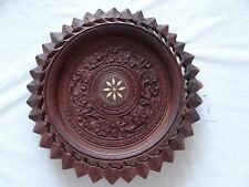 Vintage 1970's wooden bowl/plate from India