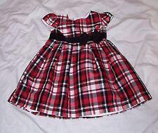 Size 12 Months Beautiful Plaid Christmas Dress