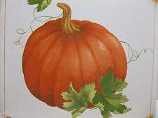 "Vintage Art Tile PUMPKIN Fall Decor THANKSGIVING Trivet 6"""