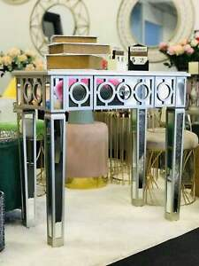 Brand New- Luxury Mirrored Console Table / Dressing Table Silver