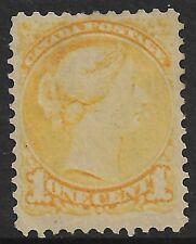 Canada -  QV  1c Lemon-Yellow *MINT HINGED* SG 76 (CV £110)