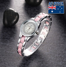 Luxury Women Bracelet Watch Crystal Stainless Steel Quartz Analog Wrist Watch